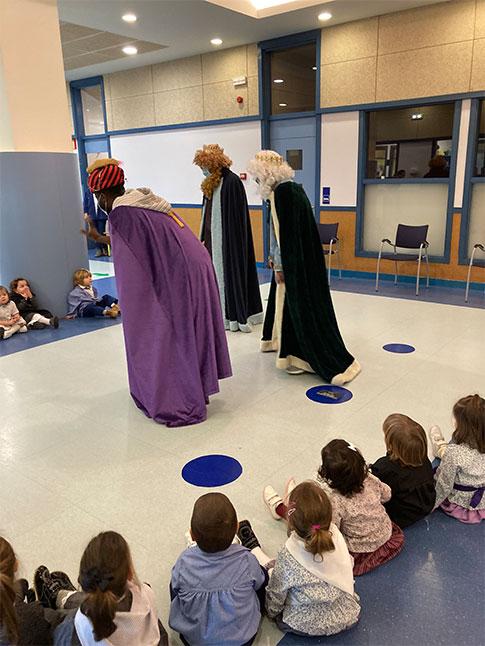 Reyes magos en el colegio