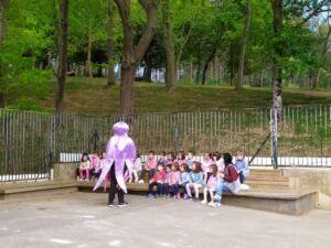 visita de urdintxo al alumnado de Infantil